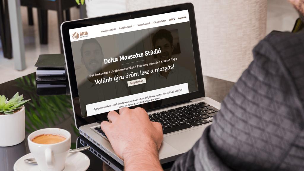 delta masszázs stúdió webdesign