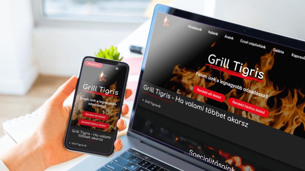 grill tigris weboldal készítés