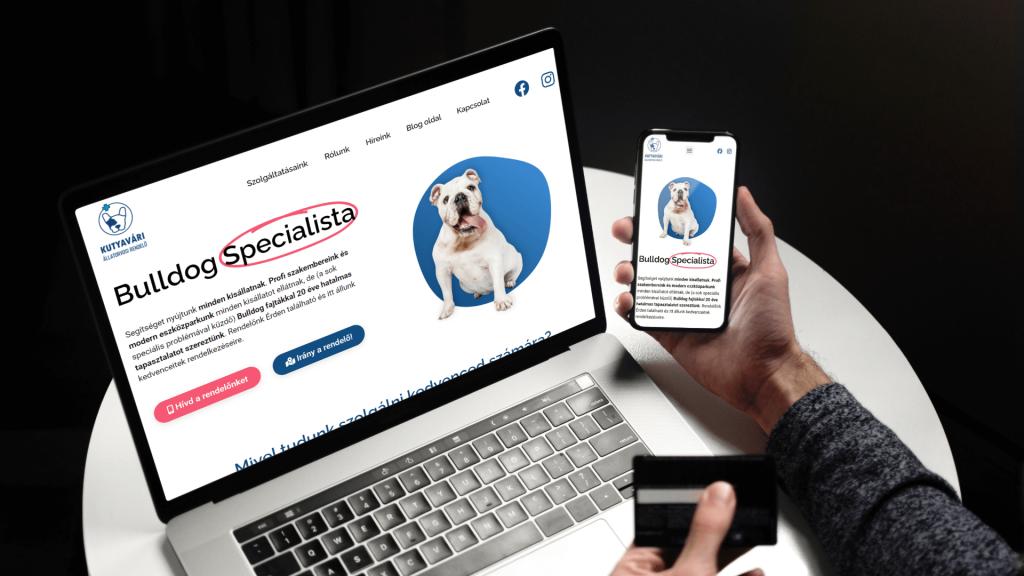 kutyavári_állatorvosi rendelő weboldal tervezés