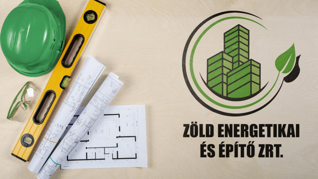 zöld energetika és építő logo
