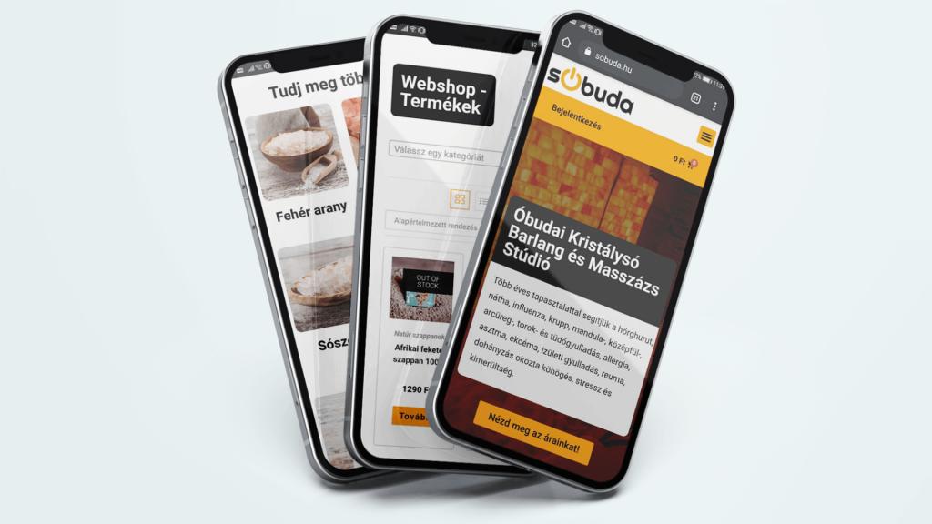 Óbudai Kristálysó Barlang és Masszázs Stúdió mobil verzió design